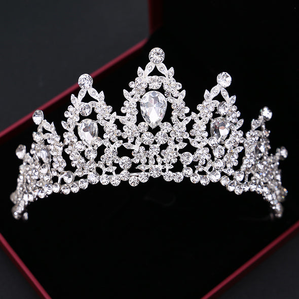 Baroque Wedding Crystal Tiaras And Crowns Pageant Cosplay - Cosplay Infinity