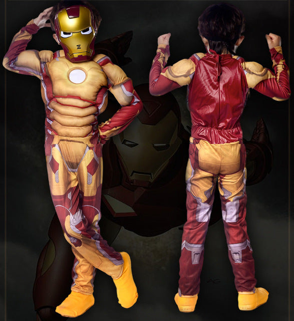 Children Boys The Avengers Iron Man Cosplay Jumpsuit Superman Superhero Costumes - Cosplay Infinity