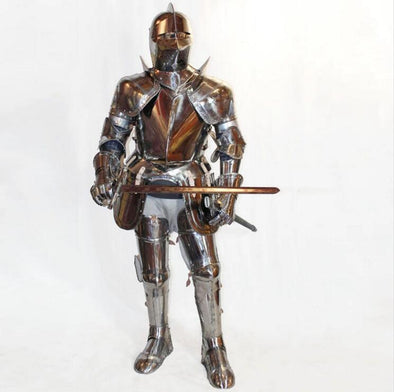 Warrior Cosplay Armor Stainless Steel Costume Knight Cavalier Costume - Cosplay Infinity