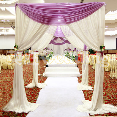 Wedding Arch Square Pavilion Backdrop Curtains Wedding Decoration Canopy - Cosplay Infinity