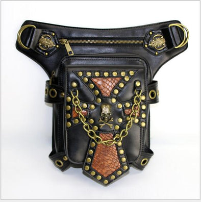 Steampunk Bags Gothic Messenger Handbag Shoulder Bag Fashion Retro Rock Waist Pack - Cosplay Infinity