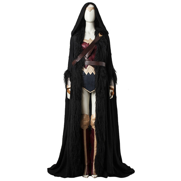 Wonder Woman Cosplay Costume Diana Prince Cosplay Full Set Superhero Halloween Party Women Sexy Costume Custom Made With Cloak - Cosplay Infinity