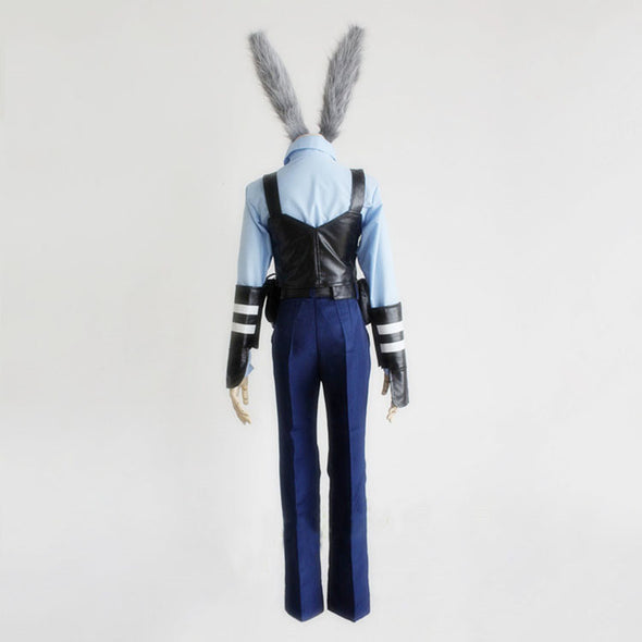 Zootopia Rabbit Bunny Officer Judy Hopps Cosplay Costume Full Set Uniform - Cosplay Infinity