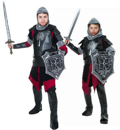 Adult/Child Medieval Knight Costume Armor Warrior Cosplay - Cosplay Infinity