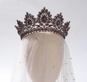Wedding Crown Silver/Champagne/Gold Bridal Crown Tiara Crystal Hair Jewelry