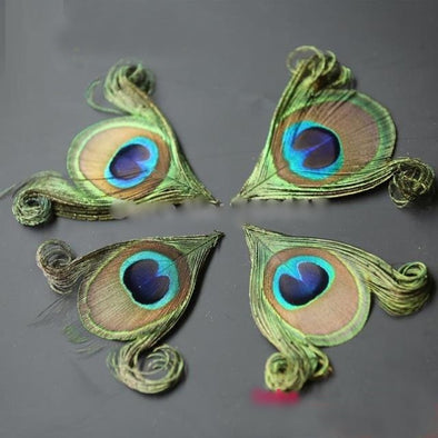 NEW! 50pcs/lot! Hand trimmed natural peacock eye feathers craft millinery DIY wedding cosplay wings headdress - Cosplay Infinity