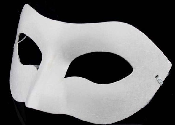 LOT 30 Drawing Board Solid White DIY Zorro Paper Blank Mask - Cosplay Infinity