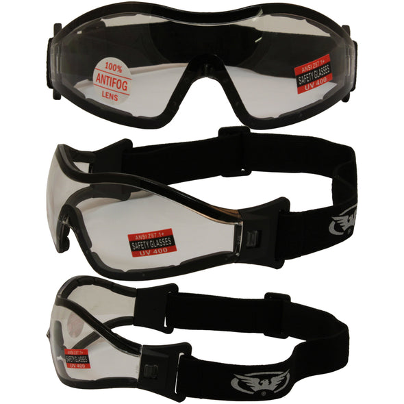 Z33 Panoramic Vision Riding Goggles with Clear Lenses and EVA Foam - Cosplay Infinity