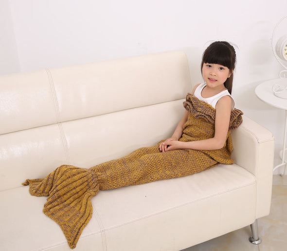 Kids Children Mermaid Tail Handmade Crocheted - Cosplay Infinity
