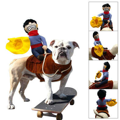 Cowboy Dog Cat Costume Clothes For Small, Medium Dogs Novelty - Cosplay Infinity
