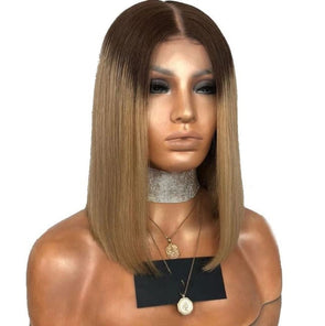 Glueless Lace Front Human Hair Wig Ombre Wig with Pre Plucked Baby Hair Lace Front - Cosplay Infinity