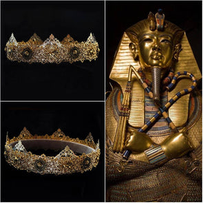 Gold Lion Mens Crown Custom Gold Hair Accessories King Cosplay - Cosplay Infinity