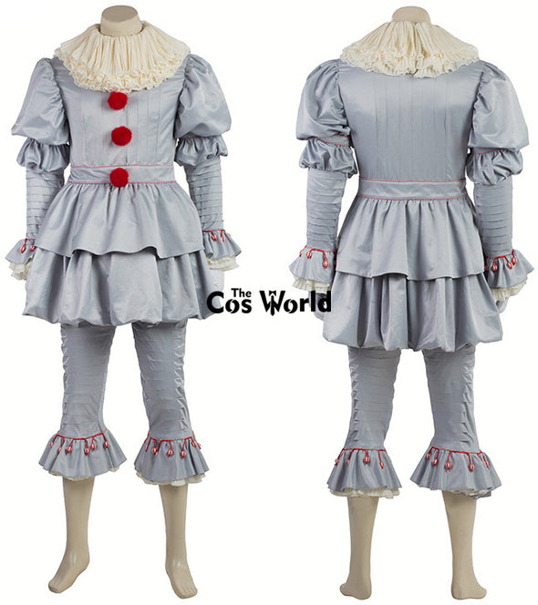 Stephen King's It Pennywise Clown Joker Evil Horror Terror Halloween Coat Outwear Pants Suits Outfit - Cosplay Infinity