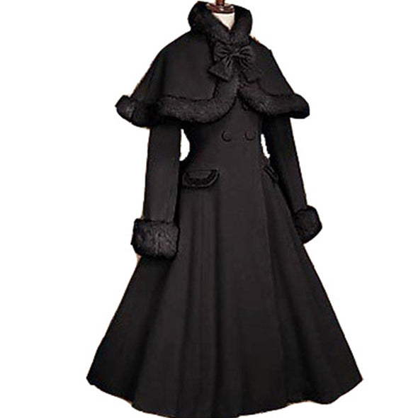 Gothic Lolita Coat Adult Princess Costume Historical Coat Long Women Plus Size Custom - Cosplay Infinity