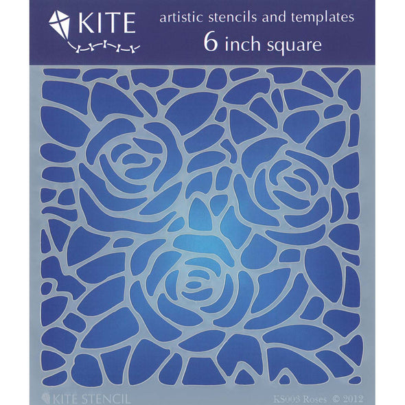 "Judikins Kite Stencil 6"" Square-Roses - Cosplay Infinity"