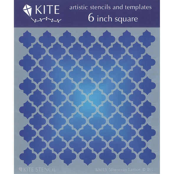 "Judikins Kite Stencil 6"" Square-Moroccan Lattice - Cosplay Infinity"