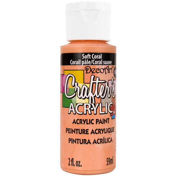 Crafter's Acrylic All-Purpose Paint 2oz-Soft Coral - Cosplay Infinity