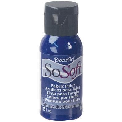 SoSoft Fabric Acrylic Paint 1oz-Primary Blue - Cosplay Infinity