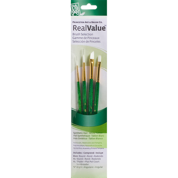 White Taklon Real Value Brush Set-4/Pkg - Cosplay Infinity