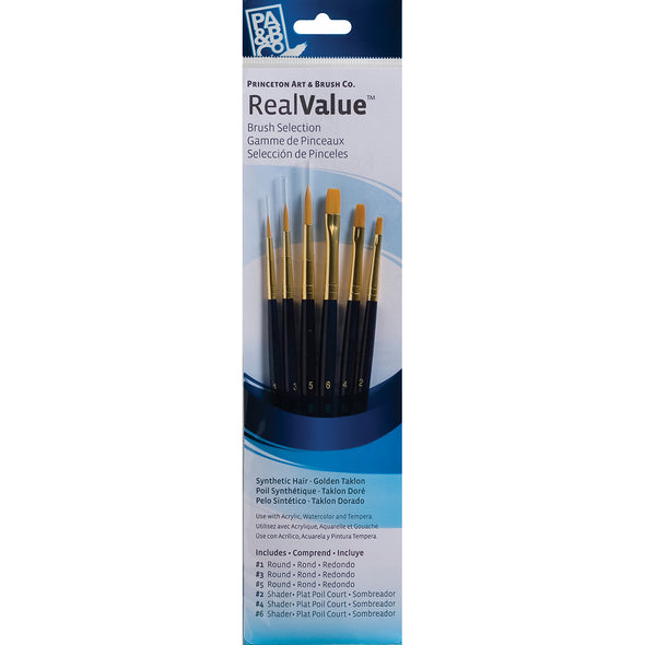 Synthetic Gold Taklon Real Value Brush Set-6/Pkg - Cosplay Infinity