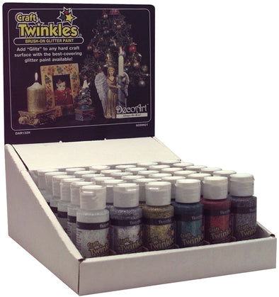 Craft Twinkles Glitter Paint 2oz-Crystal - Cosplay Infinity