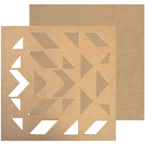 "Stencil Beyond The Page MDF Geo Art Wall Art-11""X11""X.25"" - Cosplay Infinity"