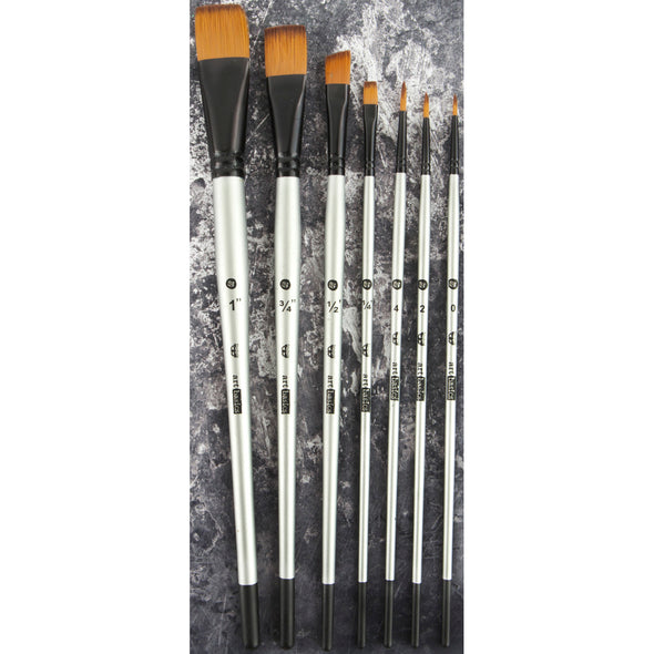 Finnabair Artist Basics Brush Set 7 Pkg Sizes: 0, 2, 4, 1/4, 1/2, 3/4, 1 - Cosplay Infinity