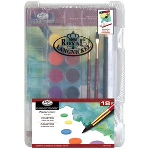 essentials(TM) Clearview Mini Art Set-Watercolor Art 18pc - Cosplay Infinity