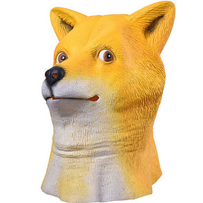Cute Cute Cute Masks Animal Mask Toys Shiba Inu Dog Head Latex - Cosplay Infinity