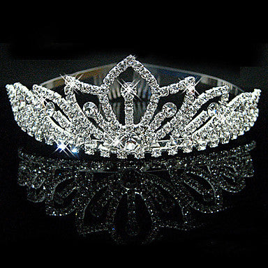 Bridal Wedding Princess Pageant Prom Crystal Tiara Crown Headband - Cosplay Infinity