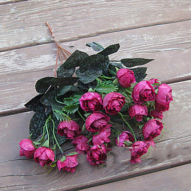 21 Head of European Herb Rose in Silk Cloth Artificial Flower - Cosplay Infinity