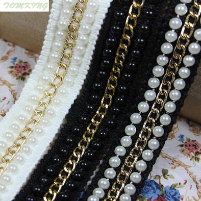25mm, 1in Gold Lace Trim Metal Chain Decoration Trimming Accessories - Cosplay Infinity