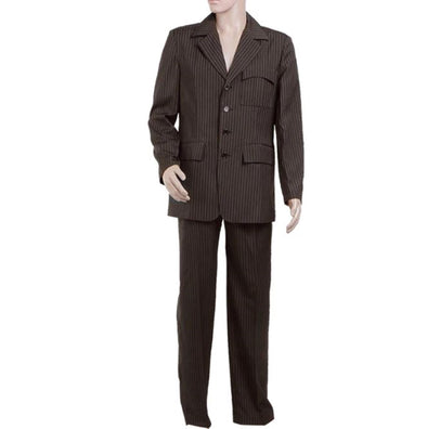 Doctor Who Dr Brown Pinstripe Suits Cosplay Costumes Blazer Pants Full Set Custom Made