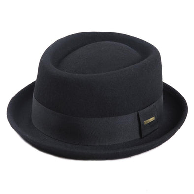 100% Australia Wool Men's Fedora Hat Pork Pie Hats - Cosplay Infinity