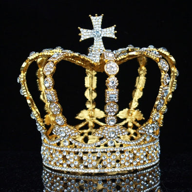 Crystal Vintage Royal Queen King Tiaras Crowns Wedding Hair Jewelry Accessories - Cosplay Infinity