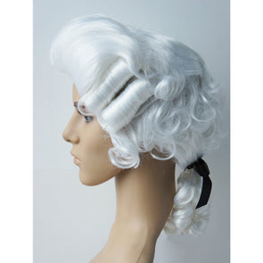 White Baroque Men's Wig George Washington Renaissance Hamilton Cosplay Halloween - Cosplay Infinity