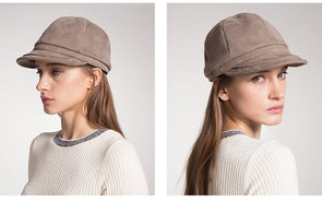 Solid Color Visor Hat Autumn Winter Berets - Cosplay Infinity