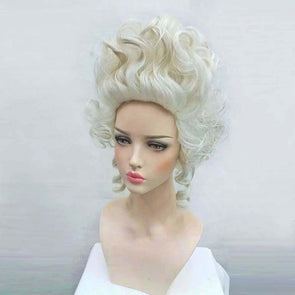 Marie Antoinette Wig Princess Medium Curly Hair Cosplay Wig + Wig Cap - Cosplay Infinity
