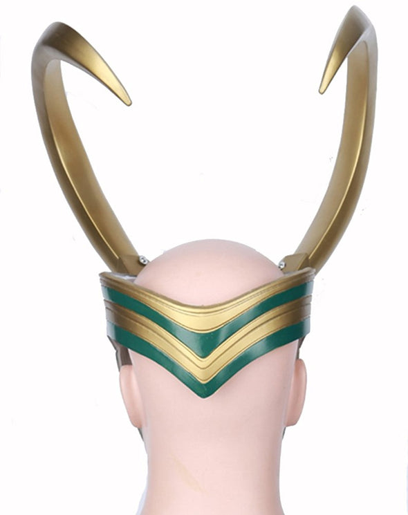Loki Cosplay PVC Mask Half Face Mask -Golden Giant Horns Helmet Cosplay For Adult - Cosplay Infinity