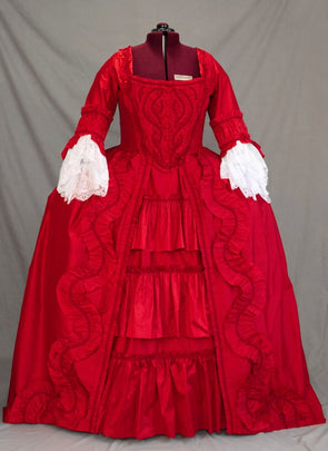 CUSTOM Rococo 18th Century Ruffle Gown Marie Antoinette Dress