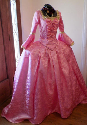 Marie Antoinette PINK Dress Rococo 18th Century French Rococo Colonial Dress Custom Made - Cosplay Infinity