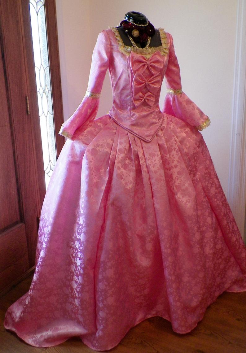 18th Marie Antoinette Gown Dress Rococo gown dress custom made