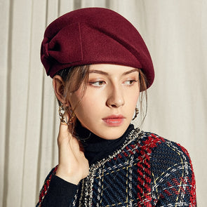 Australian Wool Felt Beret Hat Women British French - Cosplay Infinity
