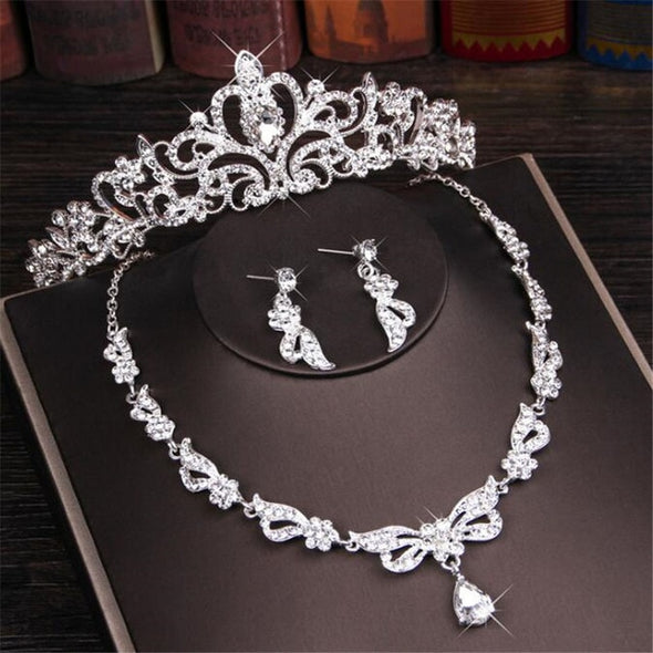 Bridal Jewelry Sets Tiara Crowns Necklaces Earrings - Cosplay Infinity