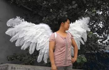 pure handmade natural ostrich feather angel wings - Cosplay Infinity