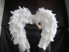 Latest South Africa high quality ostrich feather angel wings catwalk stage performance shows - Cosplay Infinity
