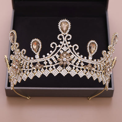 Luxury Bridal Tiara Baroque Wedding Crown