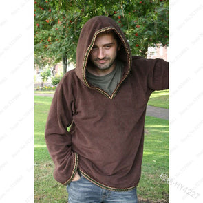 Medieval Cosplay Costume Knight Warrior Tunic Men Jackets Hoodie Shirt