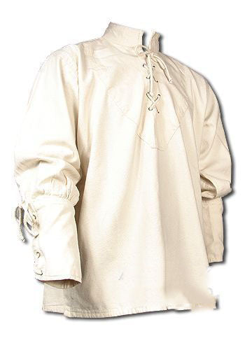 Men British Loose Casual Shirt Medieval