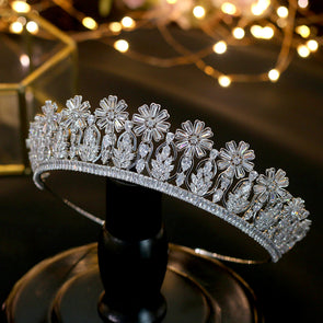 Luxury Cubic Zirconia Bridal Tiara Crown